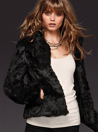 Faux Fur Jacket, $149 | Victoria Secret