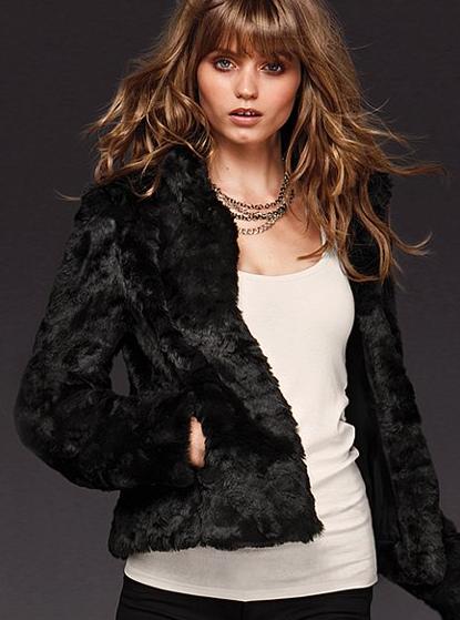 Faux Fur Jacket, $149 | Victoria Secret
