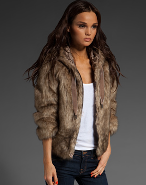 Juicy Couture Tipped Faux Fur Hooded Jacket, $358 | Revolve Clothing