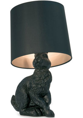 Why not put black in the kids room? Add any color and all of a sudden, they are all grown up with the Rabbit Lamp by Design Front.