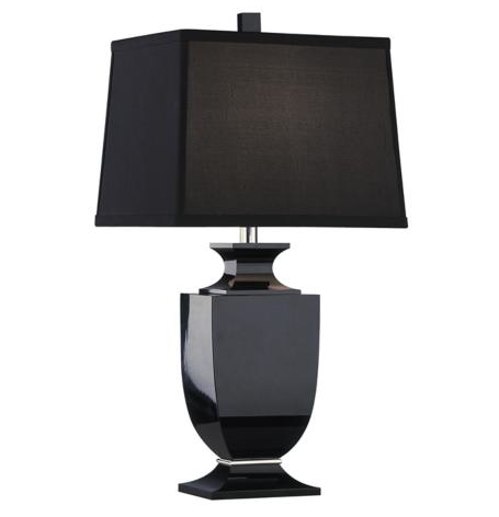 For you traditionalists with an edge, how about the Artermis Accent Black Crystal lamp and silk shade.