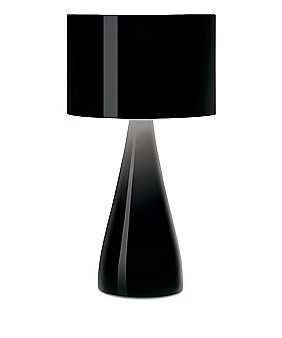 Sleek and sophisticated would work well with the Jazz table lamp by Vibia.
