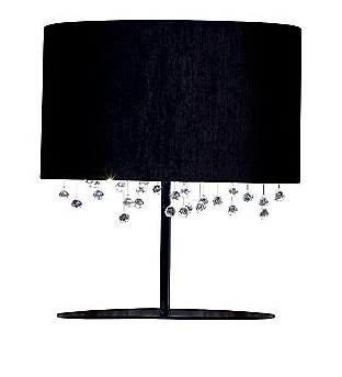 Tha glamourous in all of us would love the Velvet Table Lamp by Viso - a mirrored silver inside shade and suspended crystals add the right touch of bling to dress up anything.