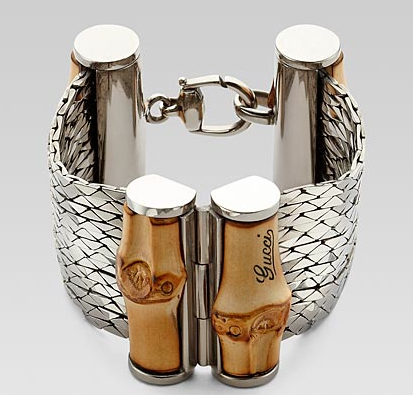 Gucci bamboo and silver bangle