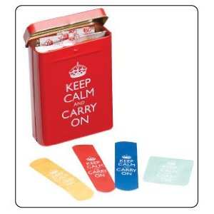 Keep Calm and Carry On bandages