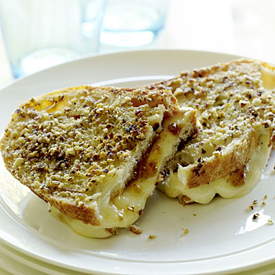 Hazelnut-crusted Grilled Cheese Sandwiches with Figs