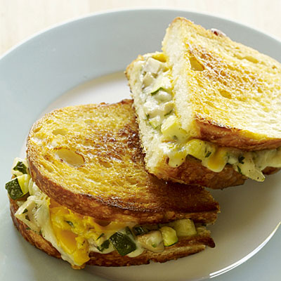 Tarragon Vegetable Grilled Cheese on Sourdough