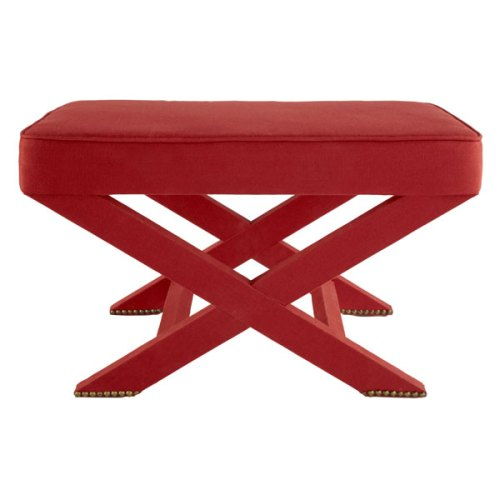 Fabric Covered X-Base Stool, $149 Sale | Wisteria.com