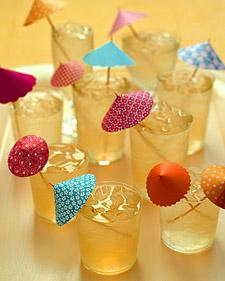 paper umbrella drink glass design