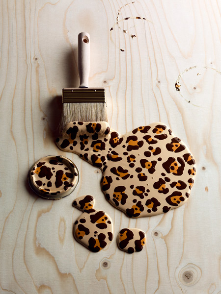 Carl Kleiner Leopard Paint Brush Design