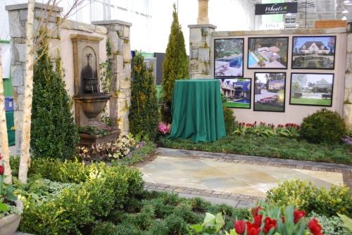 Wheat's Landscape booth at the Capitol Home & Garden Show