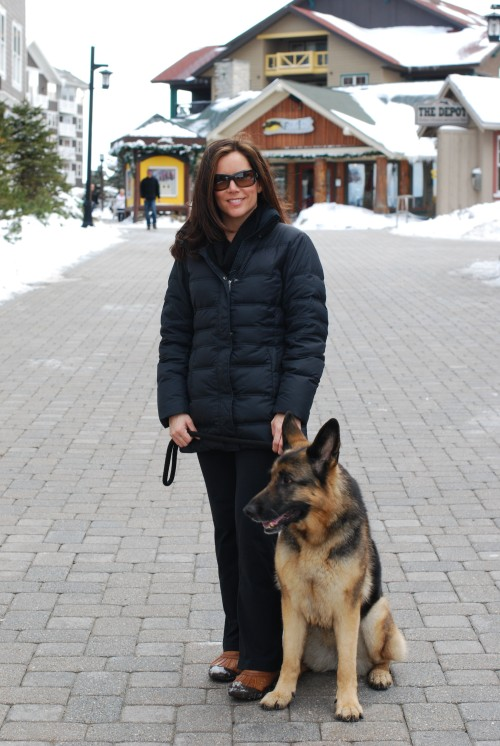 Alpha Dog and Megan in Snowshoe on a ski vacation