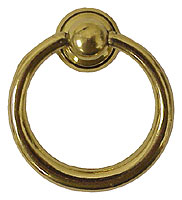 Add six brass ring pulls to accessorize the drawer fronts. These are from Hardware Hut and cost $7 each.