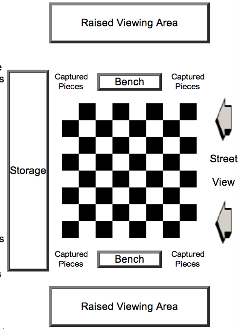 outdoor chess set diagram megachess.com