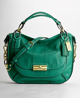 Coach Kristen Elevated Leather Round Satchel in Sage