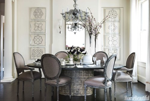 Barry Dixon latte chairs dining room