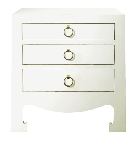 Jacqui 3-drawer side table
