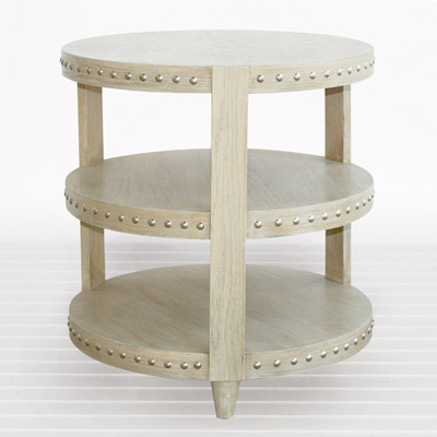 Nora Side Table in Limed Oak