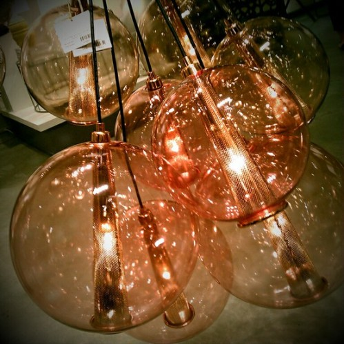 Arteriors Caviar Adjustable Large Rose Gold and Rose Glass Cluster