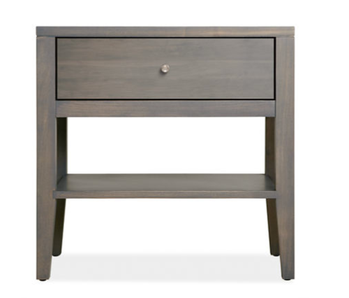 The maple grey stain on this hardwood side table updates a simple and classic design and looks great with silver or gold accents. | Room & Board