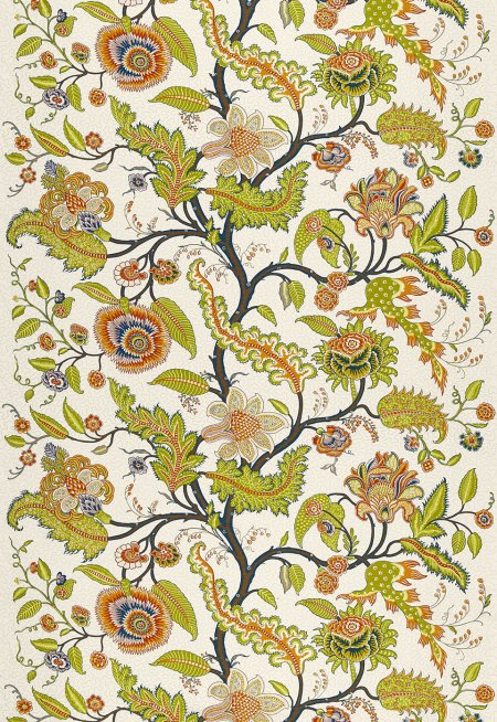 Sinhala Linen Print in Bittersweet