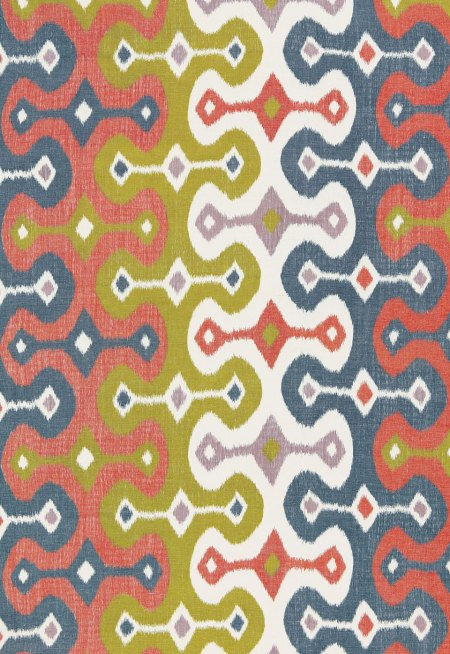 One of Martyn's favorite patterns: Darya Ikat Print in Caravan
