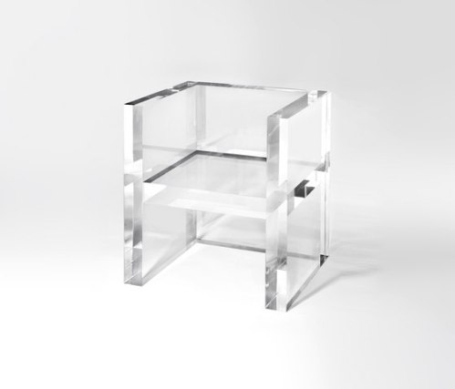 thick lucite accent arm chair