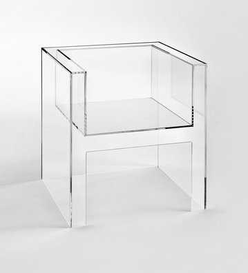 cube chair lucite acrylic clear