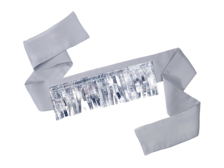 Silver and grey blindfold for the piñatas
