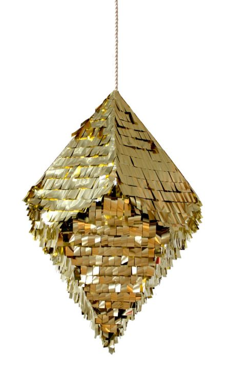 Gold crystal piniata style party