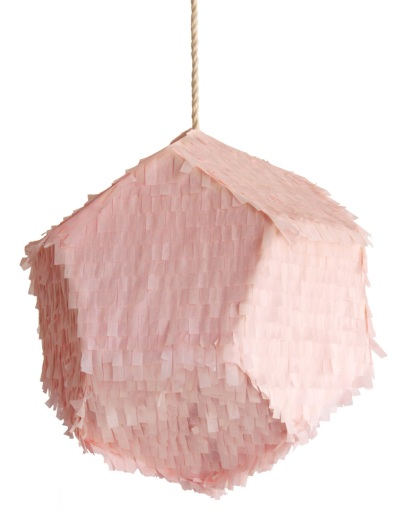 Meteorite pink piñata style party