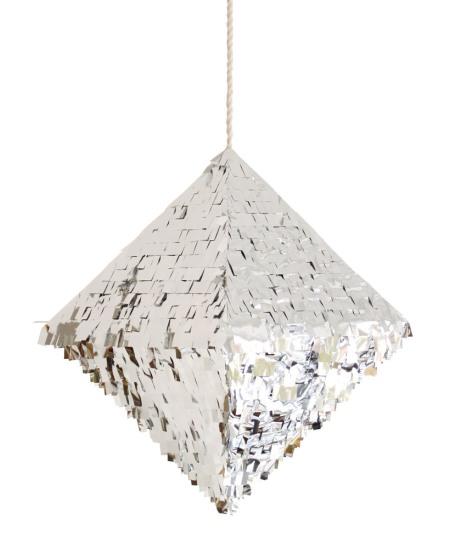 quartz silver  piñata style party