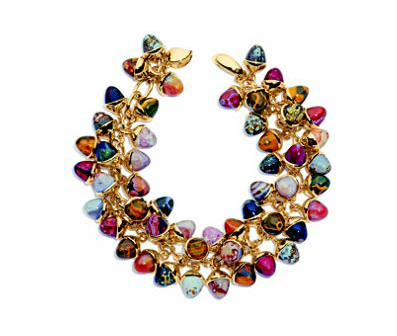 rose gold bracelet stone comolli