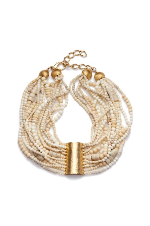 Patmos Multi Strand Beaded Necklace